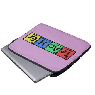 Profesor hecho de colores de los elementos funda para ordenador