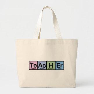 Profesor hecho de elementos bolsa tela grande