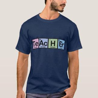 Profesor hecho de elementos camiseta