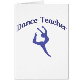 Profesor Jete de la danza Tarjeta De Felicitación