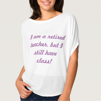 Profesor jubilado T (mujeres) Camisetas