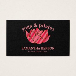 Profesor Lotus del instructor de la yoga de Tarjeta De Visita