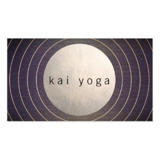 Profesor moderno fresco de la yoga y de la tarjetas de visita