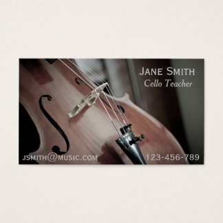 Profesor particular de la música del instrumento tarjeta de visita