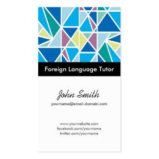 Profesor particular del idioma extranjero - tarjetas de visita