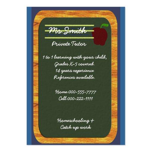 profesor particular privado tarjeta de negocio