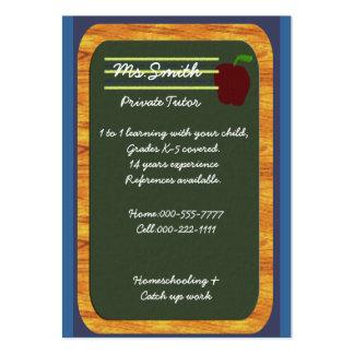 profesor particular privado tarjetas de visita grandes