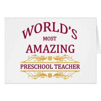 Profesor preescolar tarjeta de felicitación