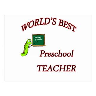 Profesor preescolar tarjetas postales