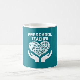 Profesor preescolar taza de café