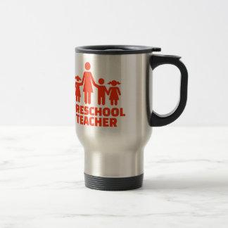 Profesor preescolar taza de viaje