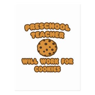 Profesor preescolar. Trabajará para las galletas Postales