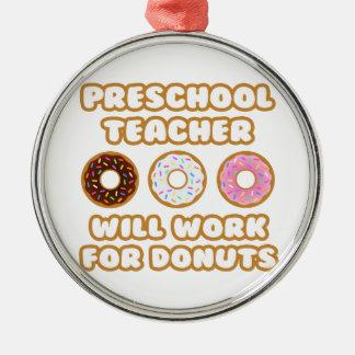 Profesor preescolar Trabajará para los anillos de Ornamentos De Reyes