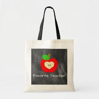 Profesor preferido Apple en la bolsa de asas de la