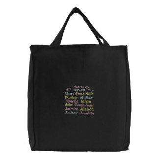 Profesor/profesor estudiante/coche, tote del etc. bolsa de tela bordada