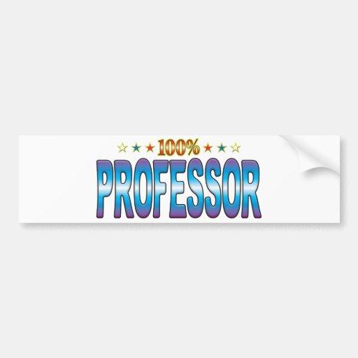 Profesor Star Tag v2 Etiqueta De Parachoque
