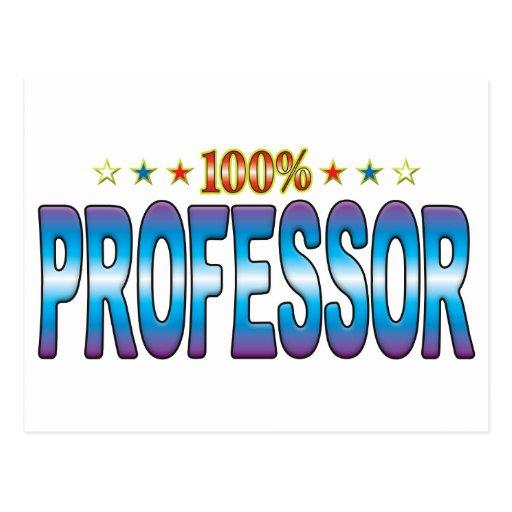 Profesor Star Tag v2 Tarjeta Postal