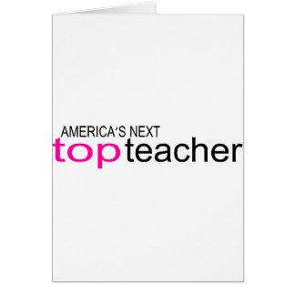 Profesor superior siguiente de Américas Tarjeta De Felicitación