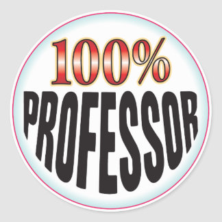 Profesor Tag Pegatinas Redondas