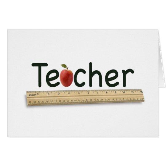 profesor tarjeta de felicitación