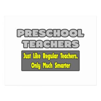 Profesores preescolares… más elegantes postal