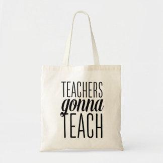 Profesores que van a enseñar a la bolsa de asas