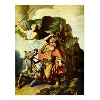 Profeta Balaam y el burro de Rembrandt Postal