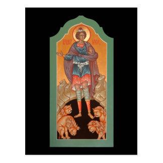 Profeta Daniel en la tarjeta del rezo de la