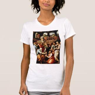 Profeta Elisha de Jorge Vasari-The que limpia Naam Camiseta