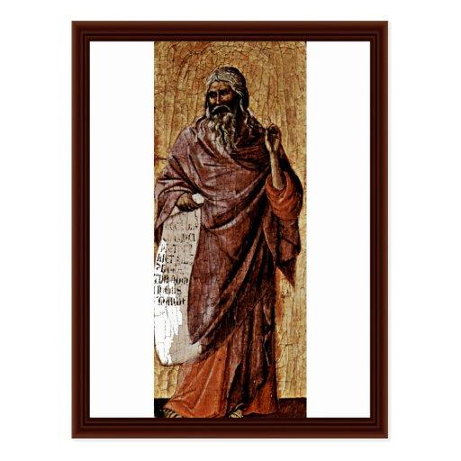 Profeta Isaías de Duccio Di Buoninsegna Postal