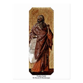 Profeta Isaías de Duccio Di Buoninsegna Tarjetas Postales