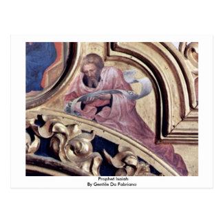 Profeta Isaías de Gentile da Fabriano Postales