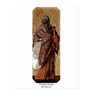 Profeta Isaías por Duccio Postal