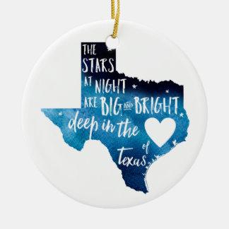 Profundamente en el corazón del ornamento de TX
