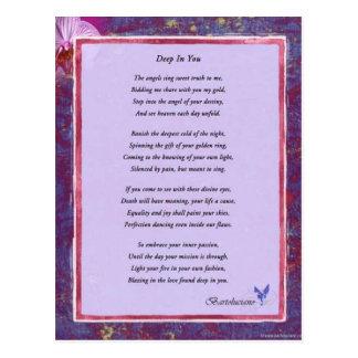 Profundamente en usted poema postal