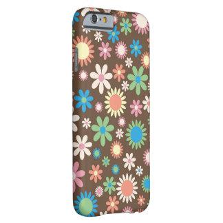 Profusión Brown de la flor Funda Barely There iPhone 6