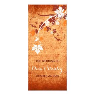 Programa anaranjado del boda de la caída de las