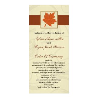 programa anaranjado del boda de la caída lonas