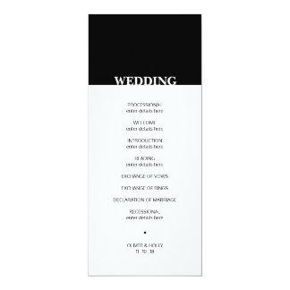 Programa blanco y negro simple del boda