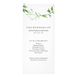 Programa botánico verde del boda de la guirnalda tarjetas publicitarias