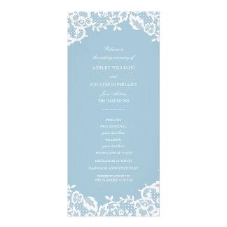 Programa clásico del boda del cordón tarjeta publicitaria a todo color