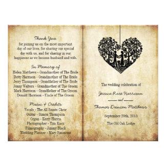 Programa colgante del BI-Doblez del boda del Folleto 21,6 X 28 Cm