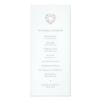 Programa color de rosa elegante del boda del