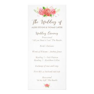 Programa coralino del boda de la primavera