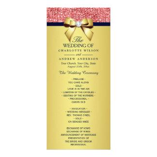 Programa coralino del boda del arco de las diseños de tarjetas publicitarias
