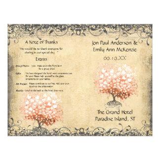 Programa coralino ligero rústico del boda del