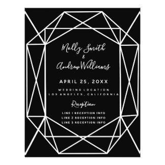 PROGRAMA cristalino negro geométrico del boda