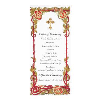 Programa cristiano subió vintage del boda lonas publicitarias