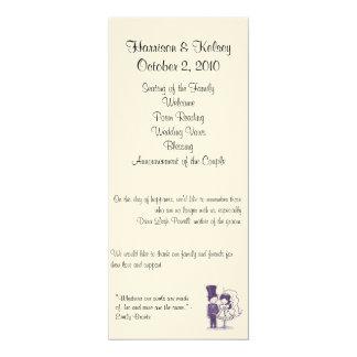 Programa cursivo retro del boda anuncio personalizado