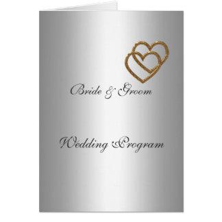 Programa de la bodas de plata tarjeton